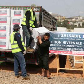 Distribution de 66 tonnes d'aliments à 2000 réfugiés