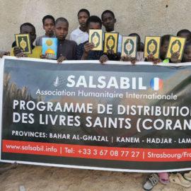 Salsabil a distribué 375 exemplaires du Coran au Tchad